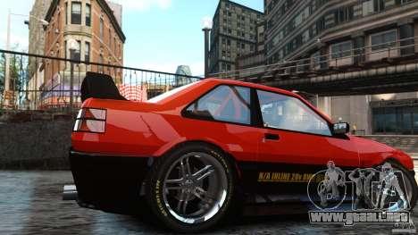 Futo GTRS para GTA 4 Vista posterior izquierda
