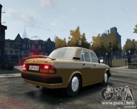 Volga GAZ 3110 para GTA 4 visión correcta