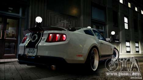 Shelby GT500 Super Snake NFS Edition para GTA 4 left