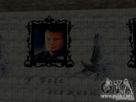 Monumento de Vladislav Galkin para GTA San Andreas segunda pantalla