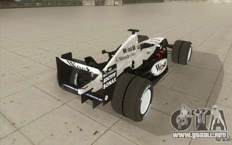 McLaren Mercedes MP 4-19 para vista lateral GTA San Andreas