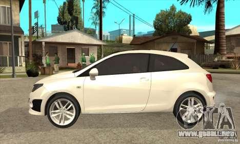 Seat Ibiza Cupra 2009 para GTA San Andreas left