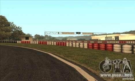 GOKART pista ruta 2 para GTA San Andreas quinta pantalla