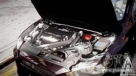 Mitsubishi Lancer X para GTA 4 vista superior