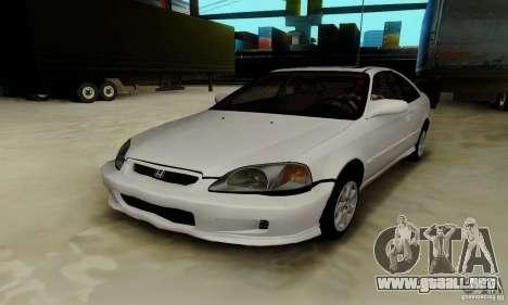 Honda Civic 1999 Si Coupe para vista inferior GTA San Andreas