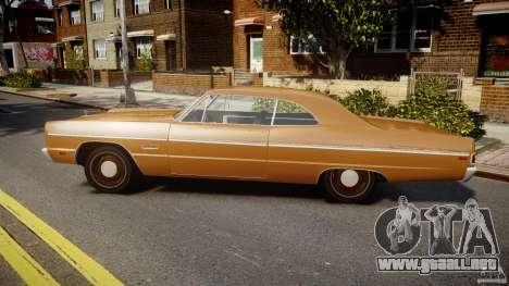 Plymouth Fury III Coupe 1969 para GTA 4 left