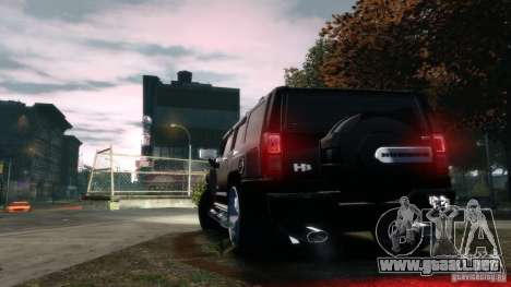 Hummer H3 2005 Chrome Final para GTA 4 Vista posterior izquierda