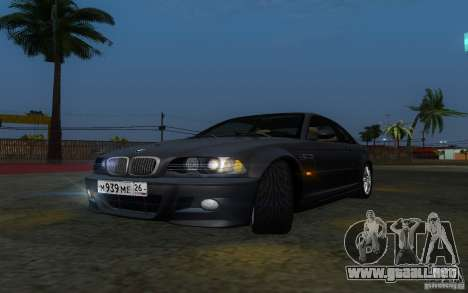 BMW M3 E46 para vista lateral GTA San Andreas