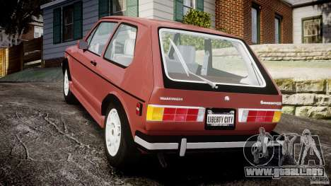 Volkswagen Rabbit 1986 para GTA 4 Vista posterior izquierda