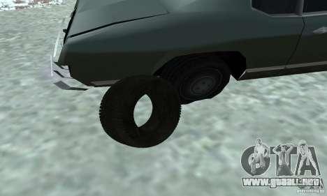 Neumáticos para GTA San Andreas vista hacia atrás