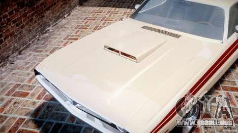 Dodge Challenger 1971 RT para GTA 4 vista superior