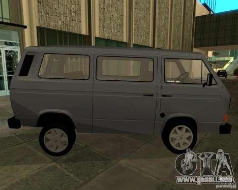 Volkswagen Transporter T3 para GTA San Andreas vista posterior izquierda