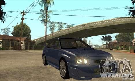 Subaru Impreza WRX STi - Stock para GTA San Andreas vista hacia atrás