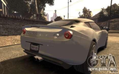 Lotus Evora 2009 para GTA 4 left
