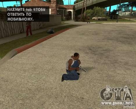 Magnum 22.2 para GTA San Andreas sucesivamente de pantalla