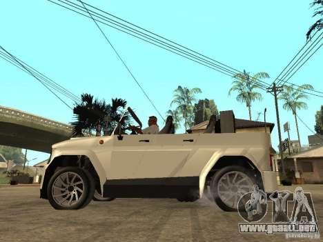 Uaz Cabriolet para GTA San Andreas left