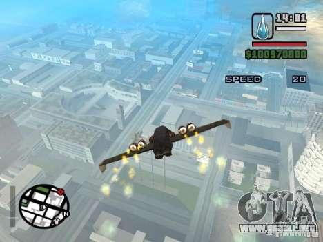 Jetwing Mod para GTA San Andreas séptima pantalla
