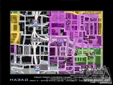Mapa con nombres de la calle para GTA San Andreas
