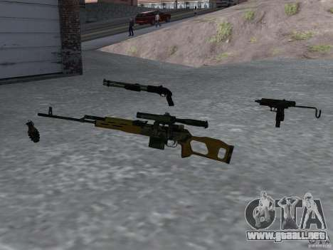 Pak versión doméstica armas 4 para GTA San Andreas