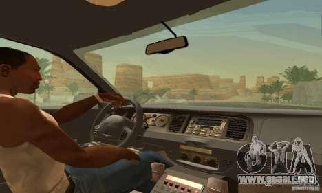 Ford Crown Victoria Ohio Police para GTA San Andreas vista posterior izquierda