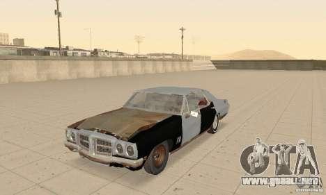 Pontiac LeMans 1970 Scrap Yard Edition para visión interna GTA San Andreas