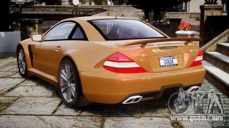 Mercedes-Benz SL65 AMG Black Series para GTA 4 Vista posterior izquierda