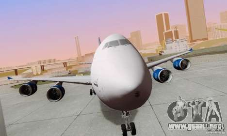 Boeing 747-8F para la visión correcta GTA San Andreas