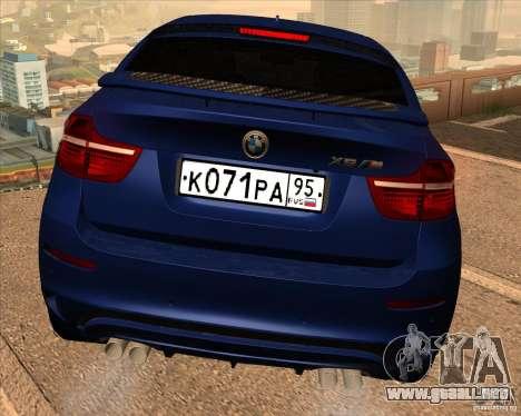 BMW X6 M E71 para la vista superior GTA San Andreas