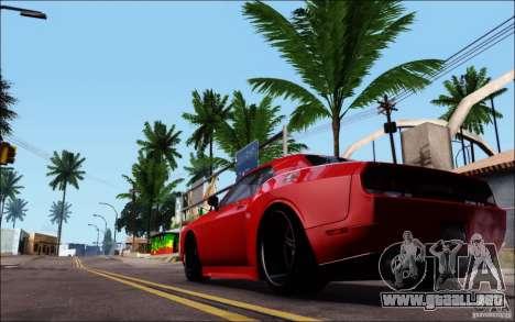 Dodge Challenger Rampage Customs para GTA San Andreas vista posterior izquierda