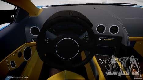 Lamborghini Reventon Polizia Italiana para GTA 4 vista hacia atrás