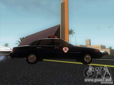 Ford Crown Victoria 1992 Detroit OCP para la visión correcta GTA San Andreas