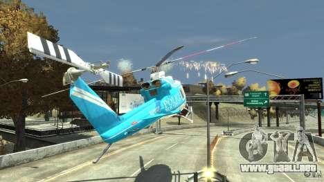 NYPD Bell 412 EP para GTA 4 vista desde abajo