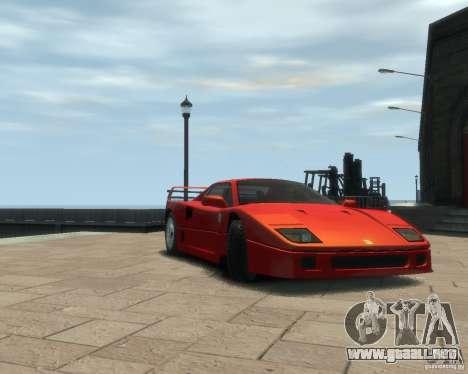 Ferrari F40 para GTA 4 left