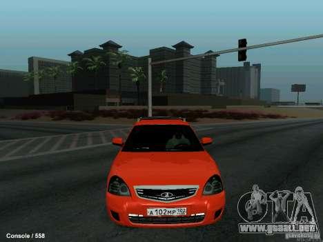 LADA 2170 102-RUS para visión interna GTA San Andreas