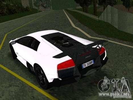 Lamborghini Murcielago LP670-4 sv para la visión correcta GTA San Andreas
