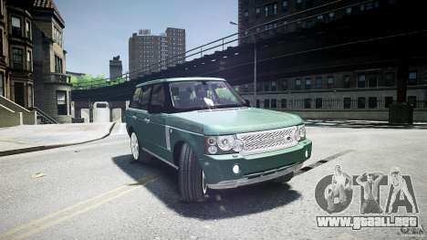 Range Rover Supercharged v1.0 para GTA 4 vista lateral