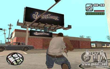 Una tienda de pintura West Coast Customs para GTA San Andreas tercera pantalla