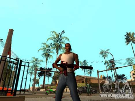 Red Chrome Weapon Pack para GTA San Andreas segunda pantalla