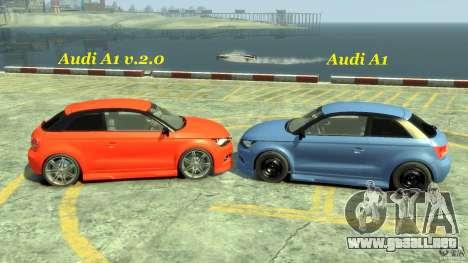 Audi A1 para GTA 4 vista lateral