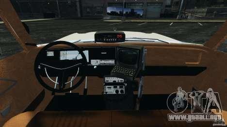 Dodge Monaco 1974 Police v1.0 [ELS] para GTA 4 vista hacia atrás