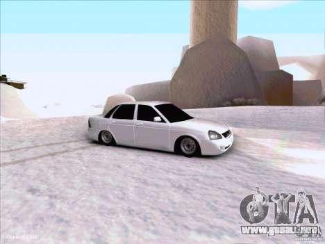Lada Priora para visión interna GTA San Andreas