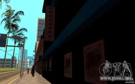 Cine Kinomaks. para GTA San Andreas segunda pantalla
