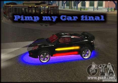Pimp my Car Final para GTA San Andreas
