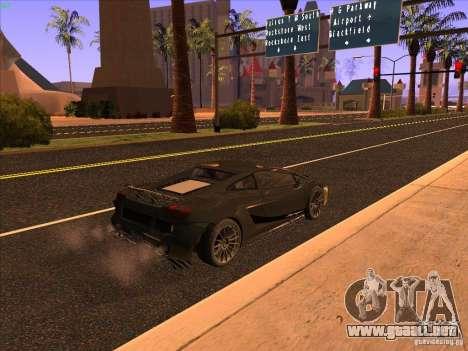 Lamborghini Gallardo Underground Racing para GTA San Andreas vista posterior izquierda