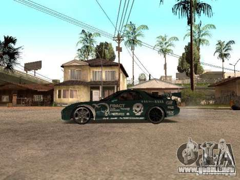 Mazda RX-7 Pro Street para GTA San Andreas left