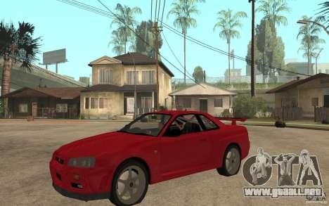 Nissan Skyline R34 GTR V-Spec para GTA San Andreas