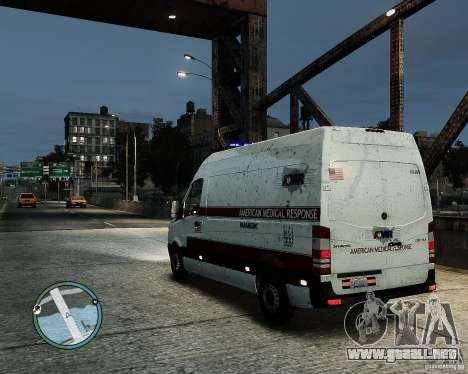 Mercedes Benz Sprinter American Medical Response para GTA 4 left