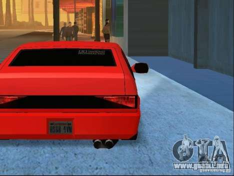 New Blistac para vista inferior GTA San Andreas