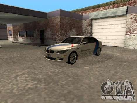 BMW M5 E60 2009 v2 para GTA San Andreas vista hacia atrás