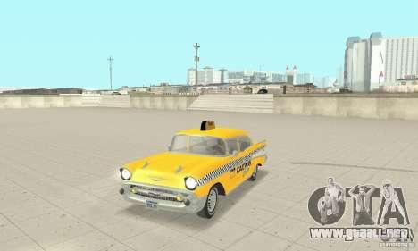 Chevrolet Bel Air 4-door Sedan Taxi 1957 para GTA San Andreas left